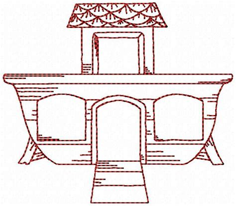 template of noah s ark noah s ark the ark by stitchx embroidery pattern