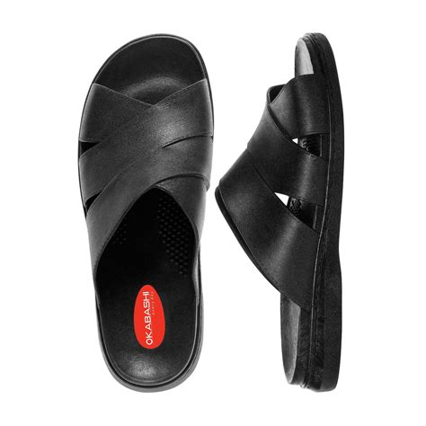 okabashi mens sandals okabashi s milan ergonomic massaging waterproof sandal