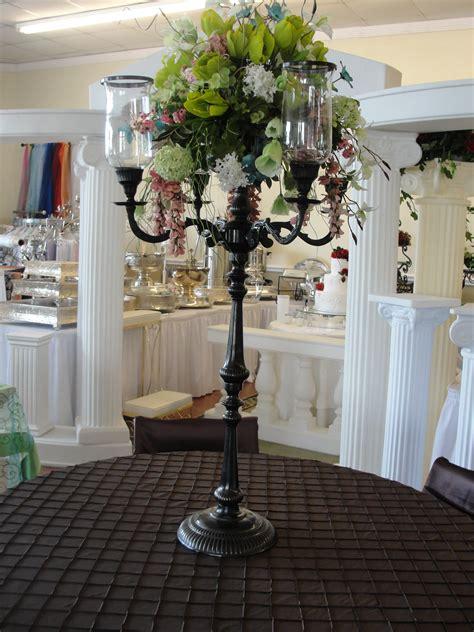 Simply Elegant Weddings Wrought Iron Candelabra Rentals Wrought Iron Candelabra Centerpieces