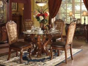 large wood dining room