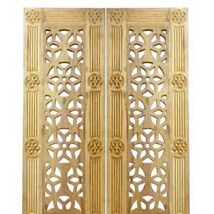 Interior Design Mandir Home Teakwood Grill Door 4007