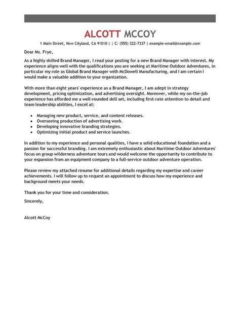 cover letter for marketing marketing sample cover letter