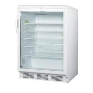 Mini Refrigerator Glass Door Summit Appliance 5 5 Cu Ft Glass Door Mini Refrigerator In White With Lock Scr600l The Home