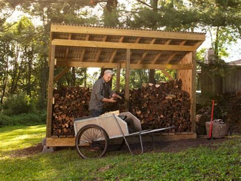 Firewood Shed Plans Free by 10 Wood Shed Plans To Keep Firewood The Self Sufficient Living