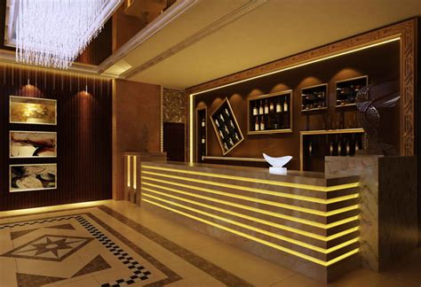 Sisket Nmax New Model 3d model lobby with a wine bar cgtrader