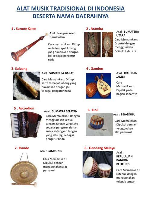 Nama Dan Alat Kesehatan alat musik tradisional di indonesia beserta nama daerahnya