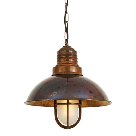 Hanging Ceiling Lights Nautical Ship Deck Ceiling Pendant Light In Antique Brass With Chain