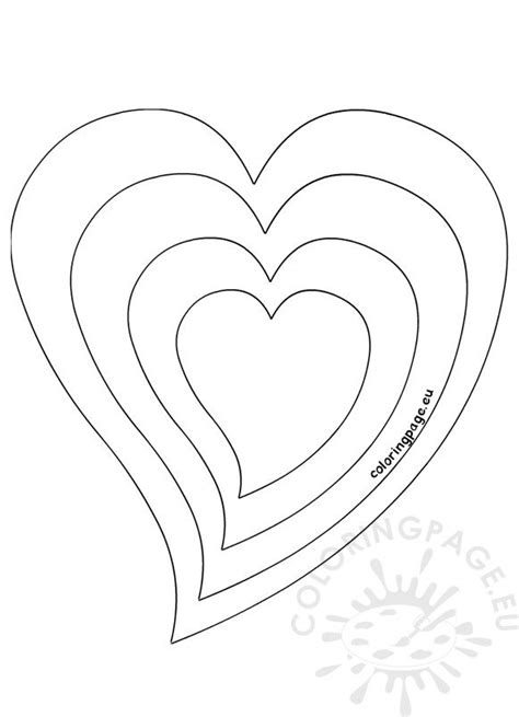 heart  size template coloring page