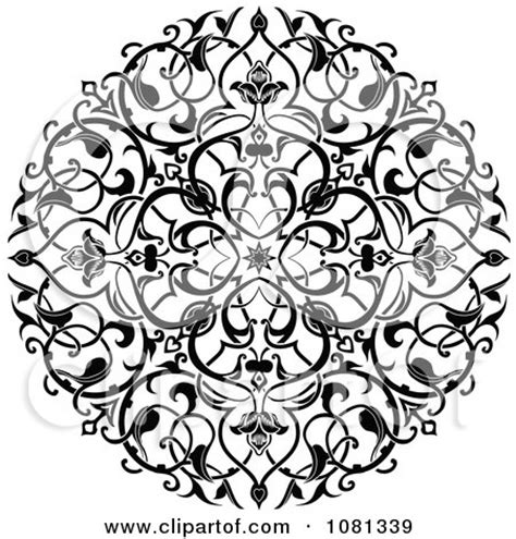 circle flower tattoo designs clipart black and white ornate floral circle design