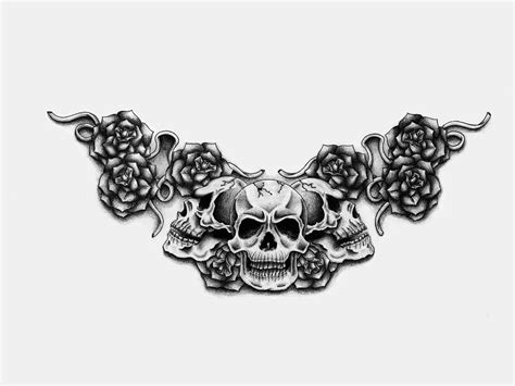 black and white skull tattoos banner ideas design ideas