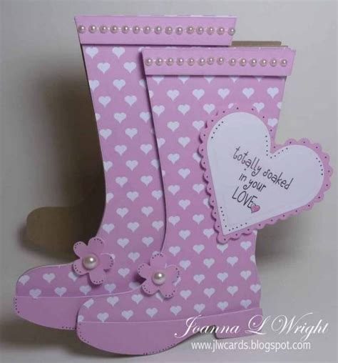 rain boots shaped card pazzles albums