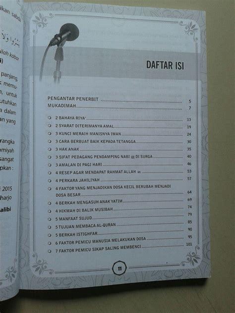 Tata Busana Para Salaf buku materi kultum ber angka praktis disaikan mudah