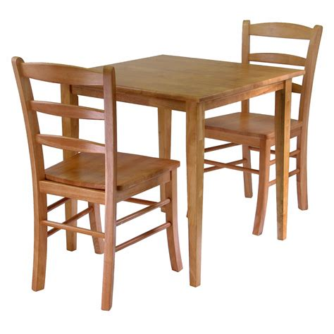 square dining table and 2 chairs home gift winsome groveland 3 wood dining set light oak finish chairs