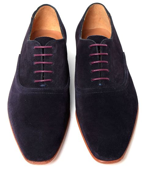 oxford blue shoes paul smith suede starling oxford shoes in blue for