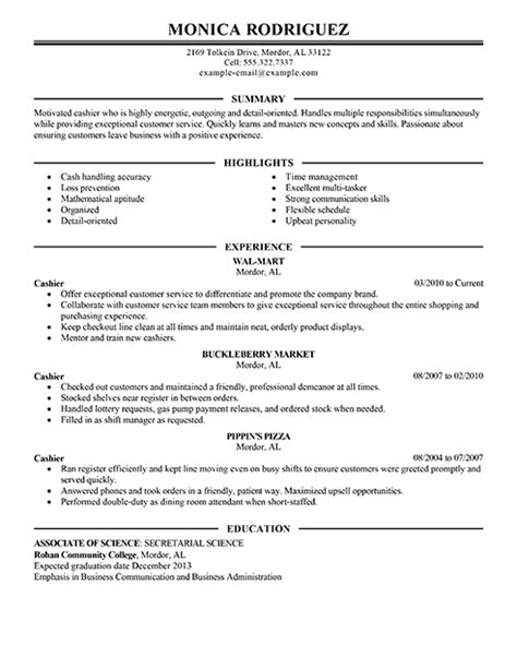 Cashier Resume by Best Sales Cashier Resume Exle Livecareer
