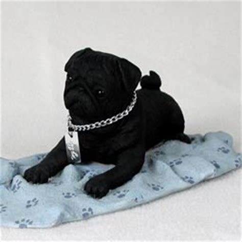 black pug figurine pugs dogbreed gifts pug figurines sculptures