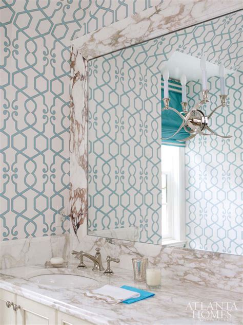 Bathroom Wallpaper Turquoise Huff Dewberry