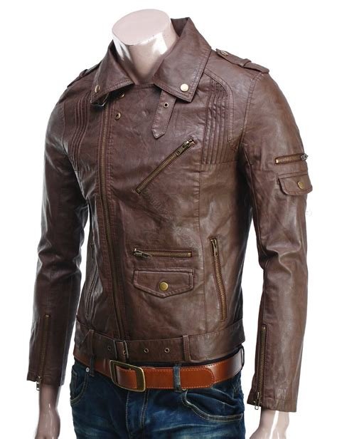 Handmade Leather Jacket - handmade new stylish stitching brown leather