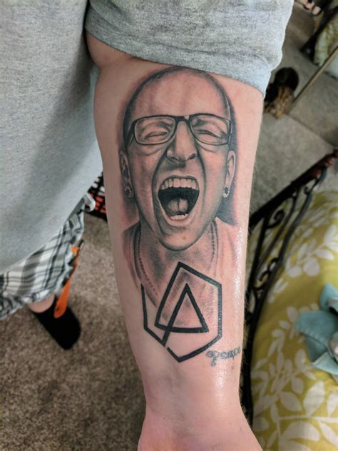 west chester tattoo chester bennington w linkin park symbol by