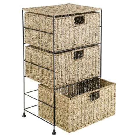 Seagrass Drawers by Tesco Seagrass 3 Drawer Tower Kiddiewinkles