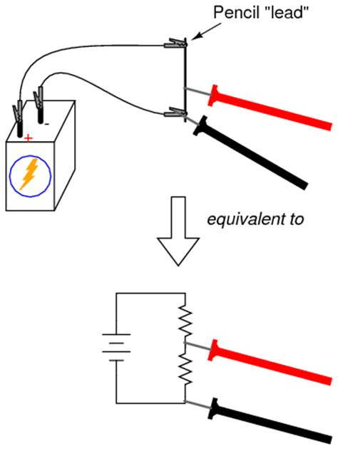 how to measure voltage drop across a resistor using a multimeter lessons in electric circuits volume vi experiments chapter 3