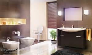 Modern Bathroom Brown Tiles Modern Bathroom With Brown Tiles Interior Design Ideas