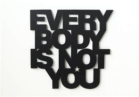 iniziali lettere decorative lettere decorative 3d everybody is not you wall it