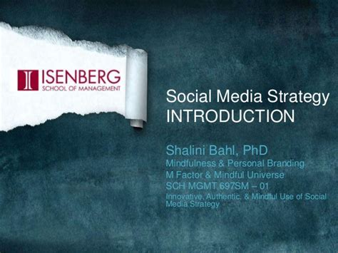 Ross Mba Orientation by Social Media Strategy Orientation For 697sm Mba Class