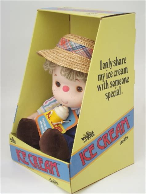 Midcentury Modern Lighting - vintage 1980 ice cream doll in original box boy doll w straw hat
