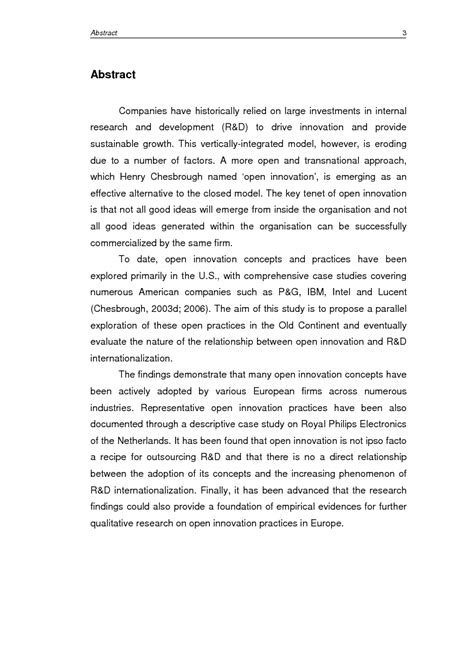 thesis abstract exploratory preview of the thesis an exploratory study of open