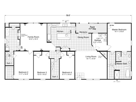 1999 redman mobile home floor plans 1999 redman mobile