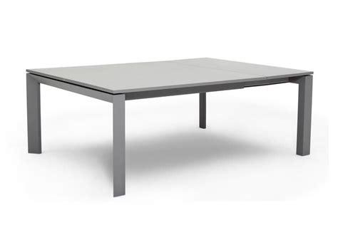 table de jardin carre avec rallonge tout en alu lavida decostock