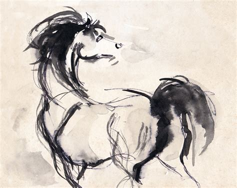 printable horse art horse print horse art horse drawing horse ink sketch