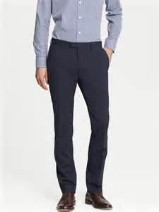 Banana republic modern slim fit navy wool dress pant dark navy in blue