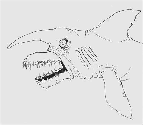 goblin shark coloring page goblin shark by contagionpmfe on deviantart