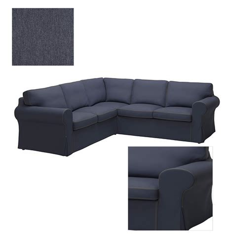 blue jean sectional couch ikea ektorp 2 2 corner sofa cover slipcover jonsboda blue