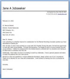 Resume Cover Letter Career Change by Cover Letter Nursing Career Change Career