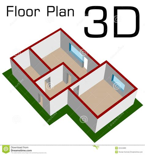 3d house floor plans free 3d empty house floor plan royalty free stock photo image 22444885