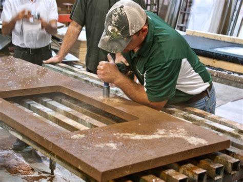 make a pressed concrete countertop cheng concrete