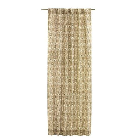 home depot kitchen curtains home decorators collection printed burlap safari 50 in w
