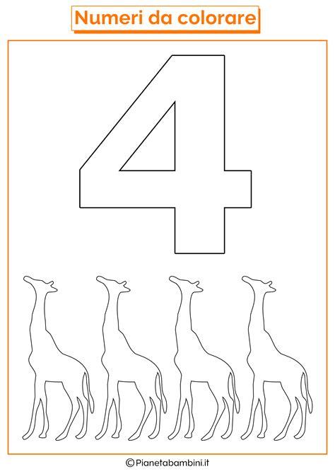disegni di numeri da stare colorare e ritagliare per bambini