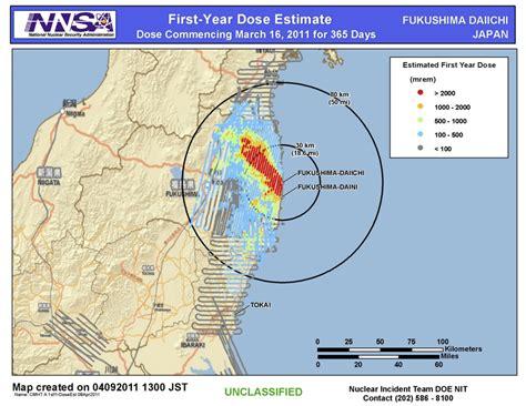 fukushima radiation map file nnsa doe dose map fukushima png wikimedia commons