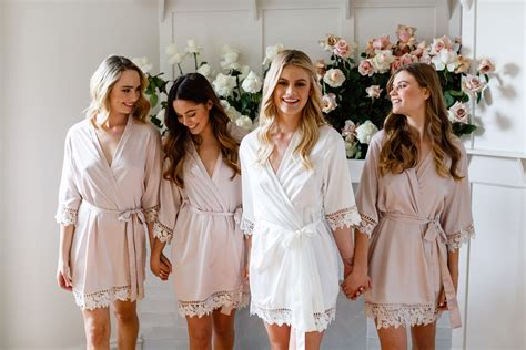 Bridal Robes by Lace Bridal Robe Bridesmaid Robes Robe Bridal Robe