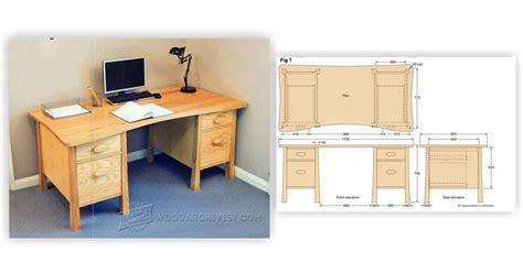 Pedestal Desk Plans by Pedestal Desk Plans Woodarchivist