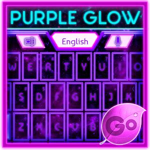 play store themes android go keyboard purple glow theme android apps on google play