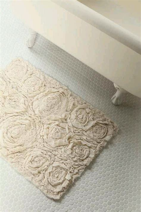 diy rose bath mat diy shabby chic pinterest