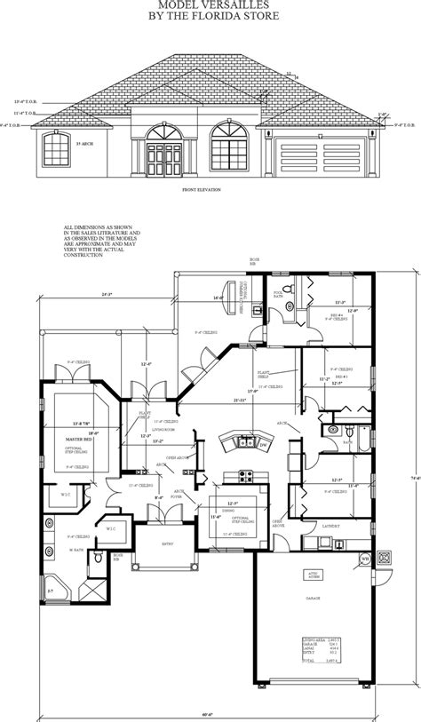 versailles florida floor plan model floorplans the florida store homesites homes