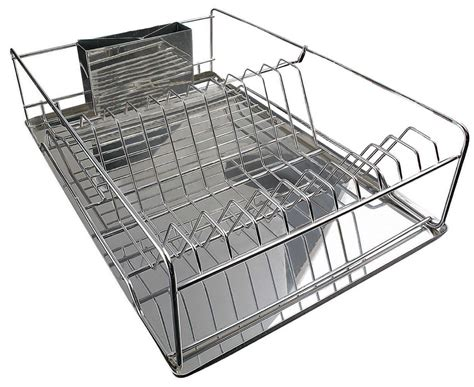 Large Dish Rack by Stainless Steel Drainer Large Stainless Steel Plate Dish