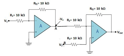 summing integrator circuit application of op as summing lifier integrator and differentiator electronics post