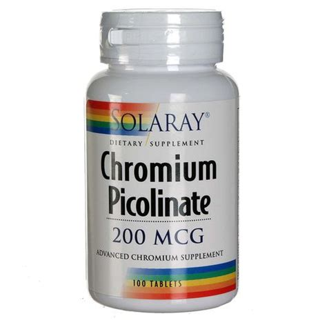 Chromium Picolinate Detox Liver by Solaray Chromium Picolinate 200 Mcg 100 Tablets